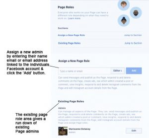 Facebook page roles blog ideal directions