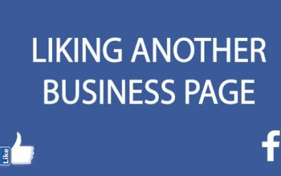 How to like a Facebook page from your business page
