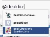 Tagging a page on Facebook