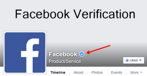 Blue tick Facebook verification