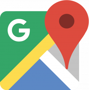 Google maps logo and pin drop symbol