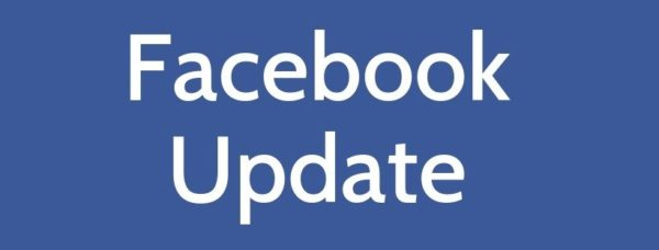 White Facebook writing on blue background