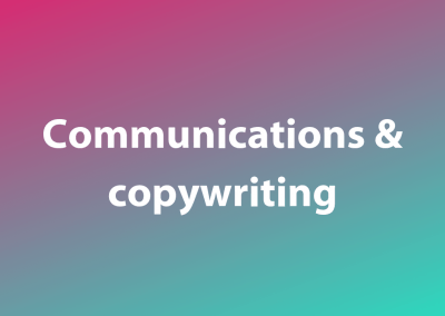 Communications and copywriting