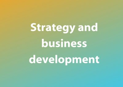 Strategy and business development
