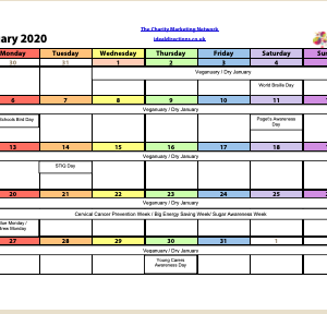 2020 Charity Campaigns Calendar