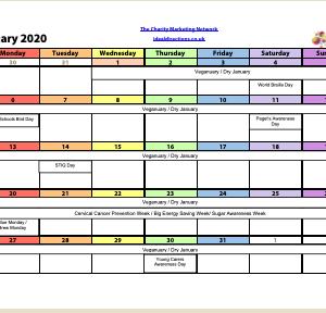2020 Charity Campaigns Calendar